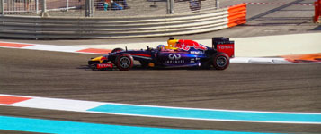 red bull racing car at the abu dhabi formula one gp