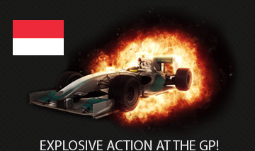 Monaco helmut flag with a racing car explosion