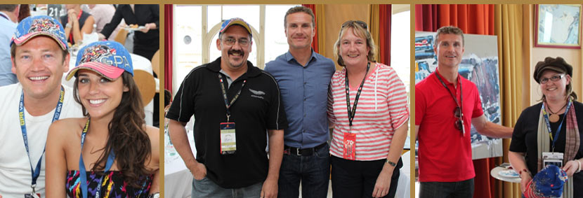 happy guests with david coulthard