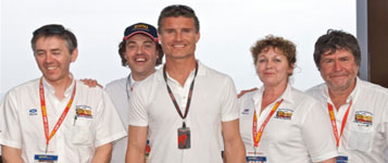 david coulthard and other race fans